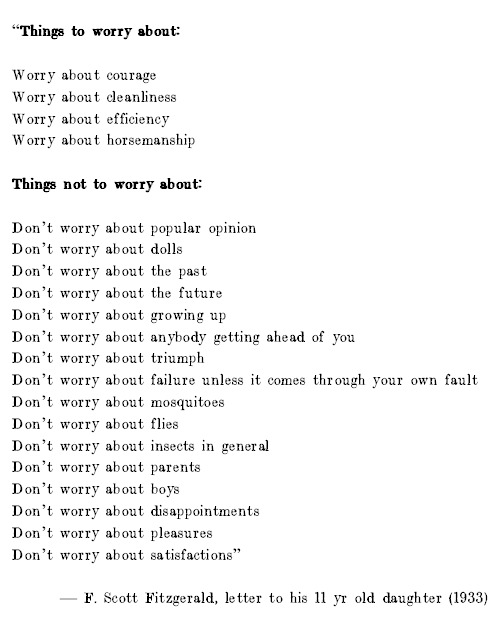 things to worry about. not to.