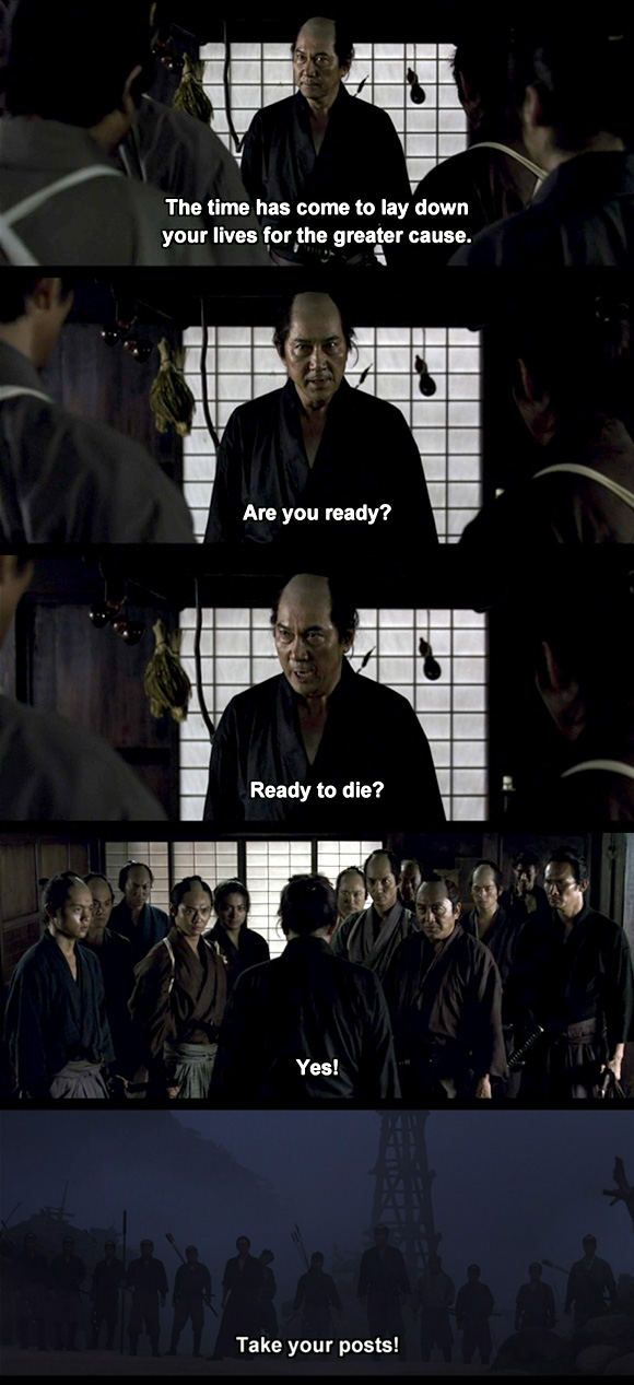 13 assassins ready to die