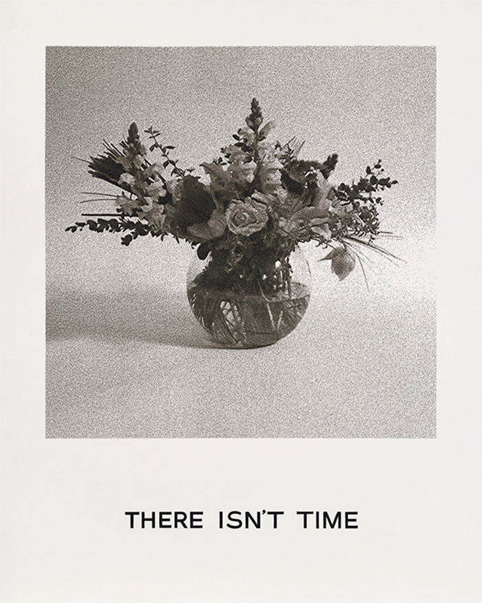 There isn't time by John Baldessari